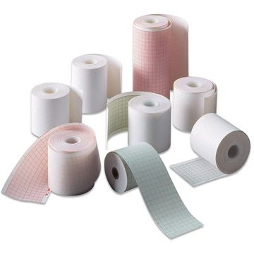 Variety of recording chart paper rolls.