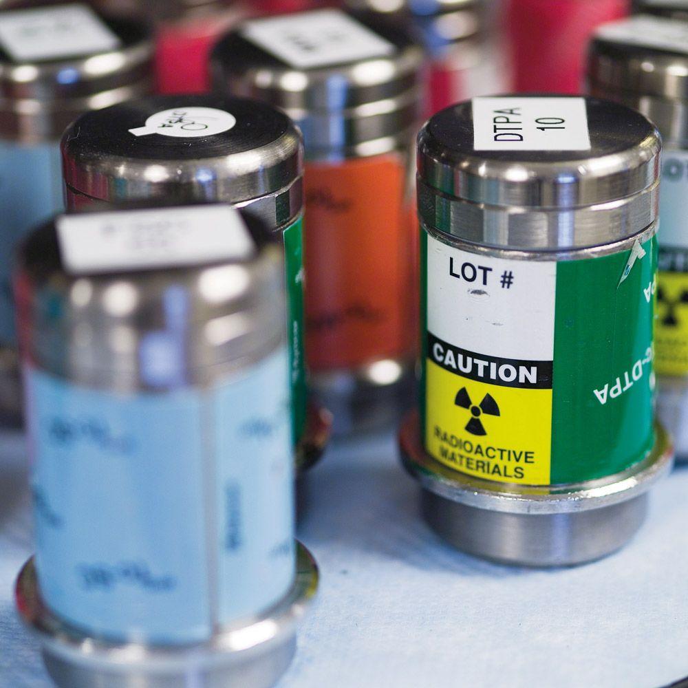 Nuclear vials.