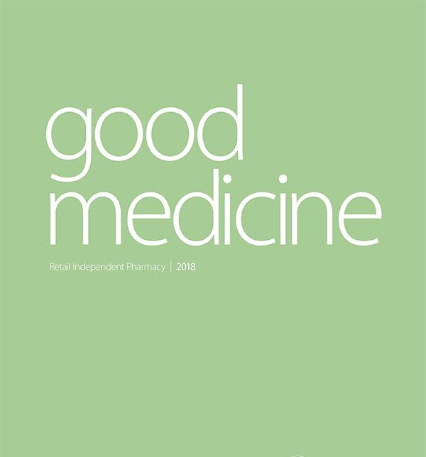 text reading good medicine retail independent pharmacy 2018