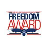 award reading Secretary of Defense Employer Support Freedom Award