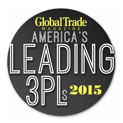 award reading Global Trade Magazine America's Leading 3PLs 2015