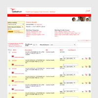 Screen capture of ordering website.