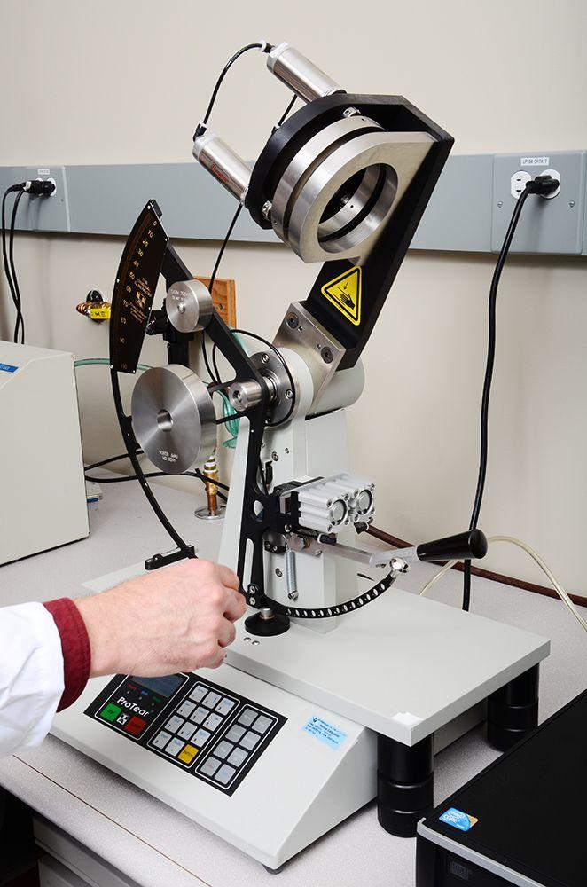 machine used to test tear strength