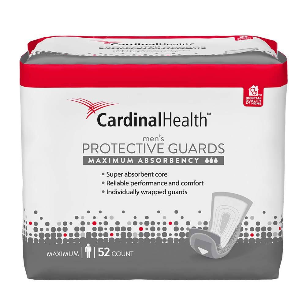 Product package of Cardinal Health's men's protective guards.