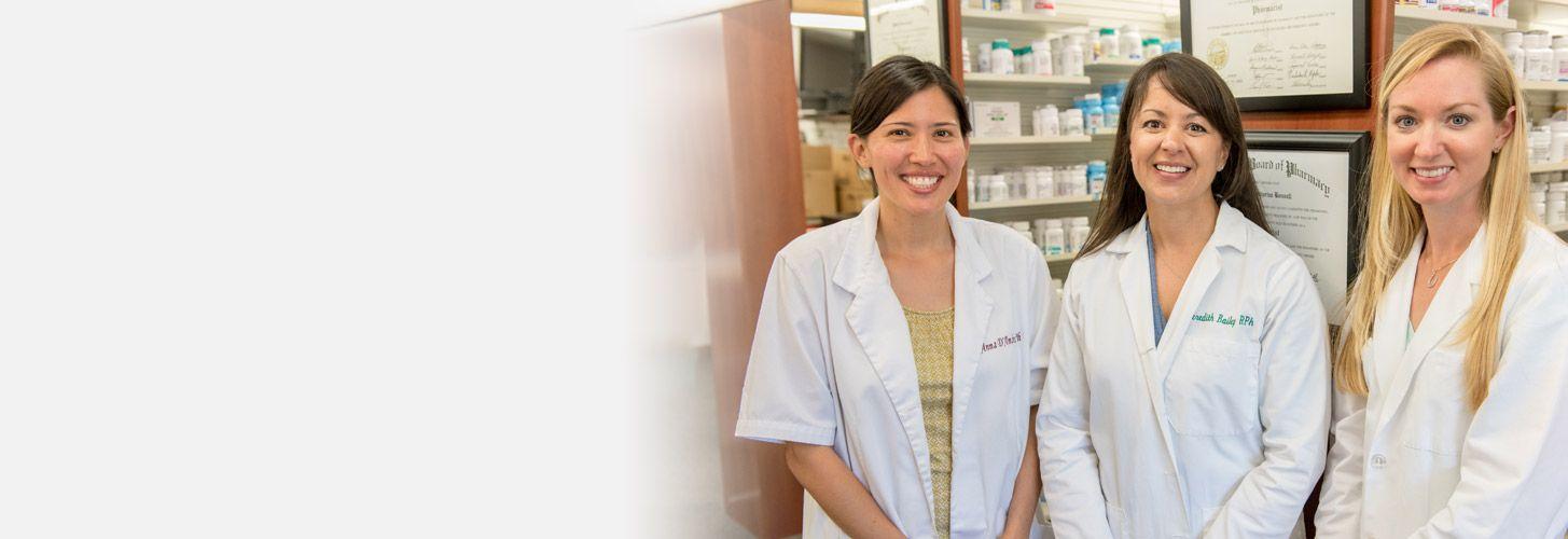 Three female pharmacists.