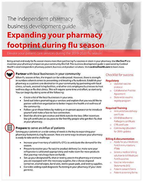 Expanding your pharmacy footprint during flu season.