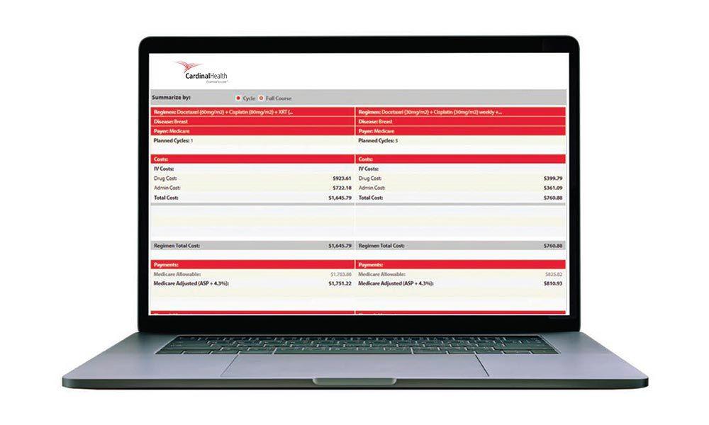 Laptop with Regimen Analyzer on the screen.