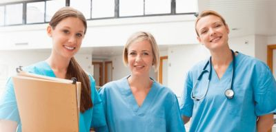 Three medical professionals.