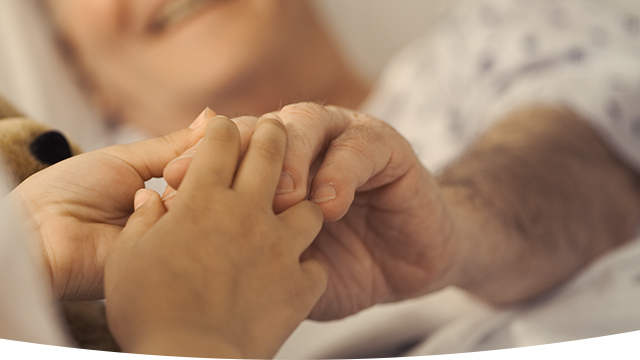 Patient receiving care at an outpatient hospital