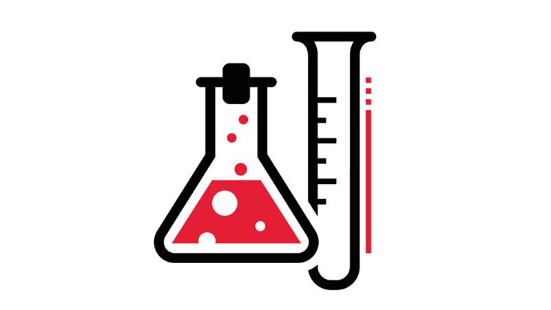 Icon of test tube and erlenmeyer flask