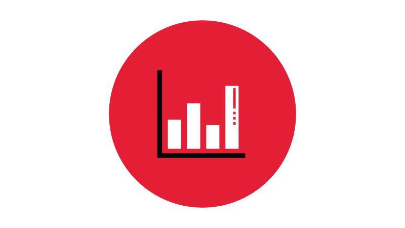 Bar graph icon.