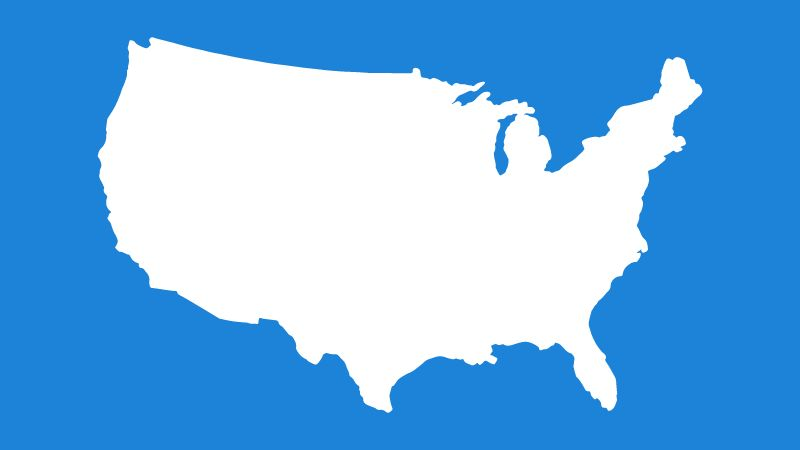 illustration of United States of America map