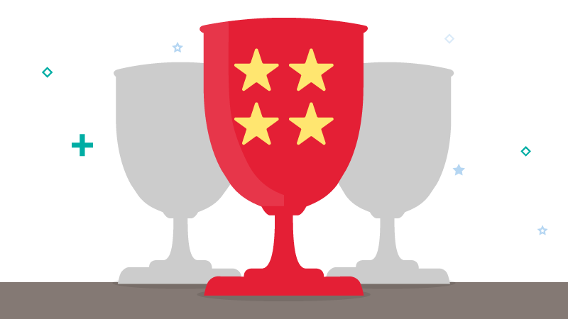 illustration of award cups