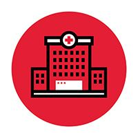 Acute outpatient facility icon.