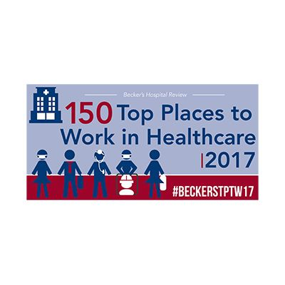 award reading 150 Top Places to Work in Healthcare 2017