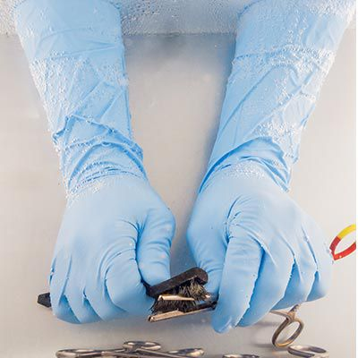Nitrile Decontamination Gloves.
