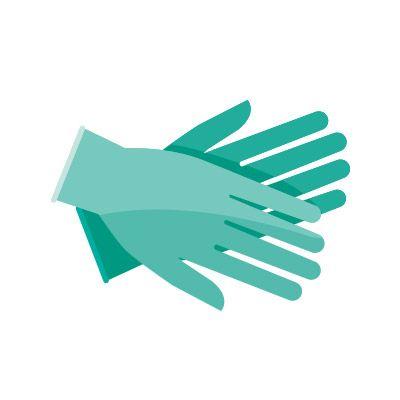 Illustration of two gloved hands.