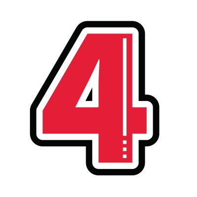 Icon illustration of the number four.