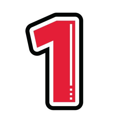 Icon illustration of the number one.