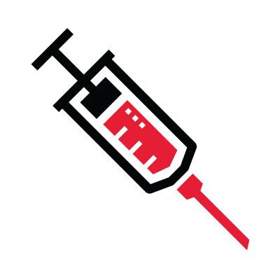 Icon illustration of a syringe.