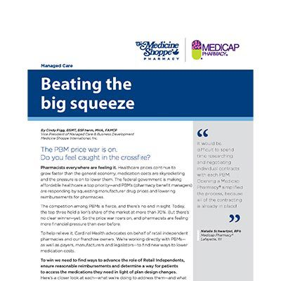 Managed Care Beating the big squeeze article thumbnail.