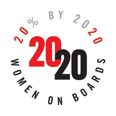 award reading 20% by 2020 women on boards