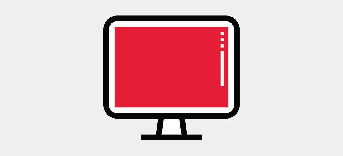 computer monitor icon.