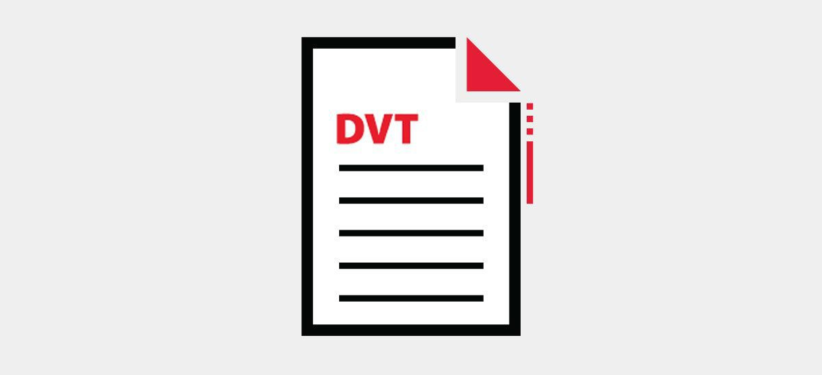 DVT medical paper icon.