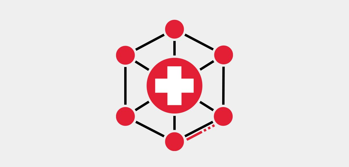 Icon illustration of multi-specialty infusion centers.