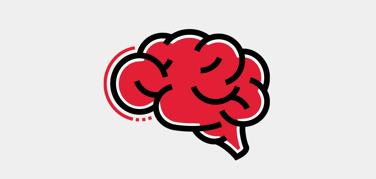 Icon illustration of the brain.