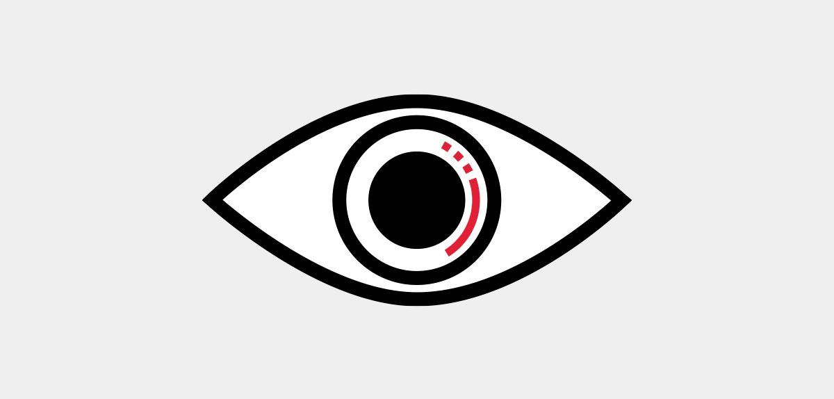 Icon illustration of an eye.