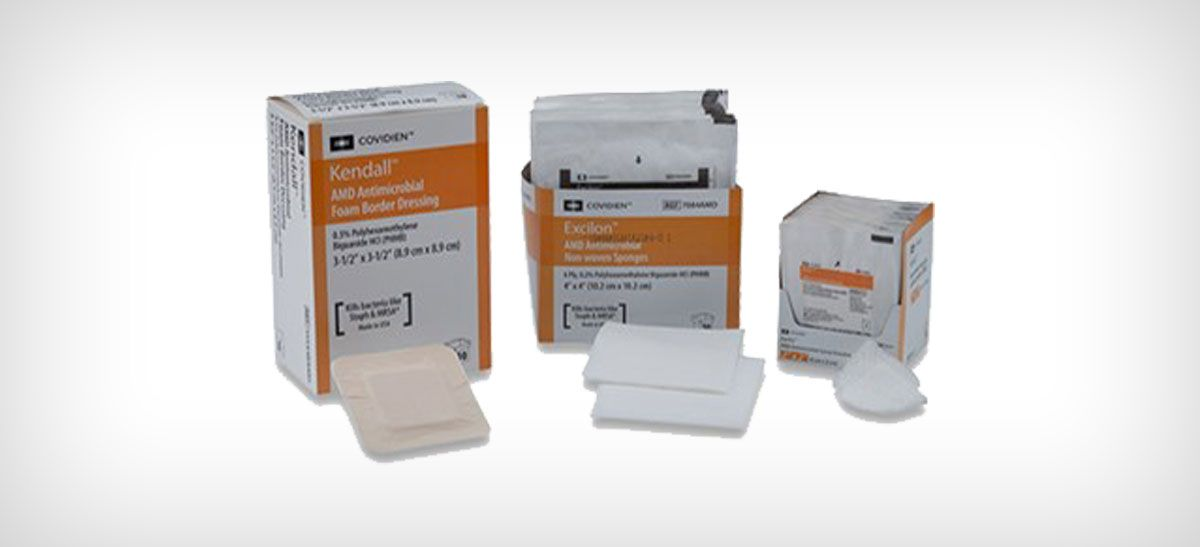 Advanced wound care products with PHMB.