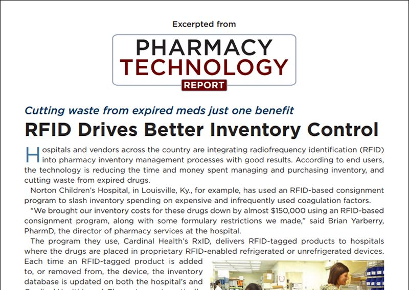 top of article entitled RFID Drives Better Inventory Control