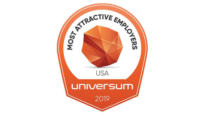 Logo reading Most Attractive Employers Universum 2019.