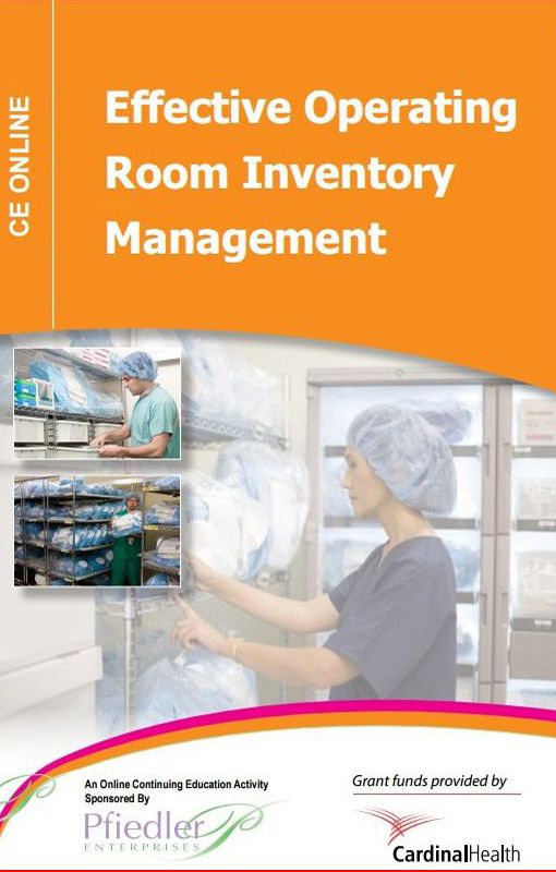 Effective operating room inventory management.