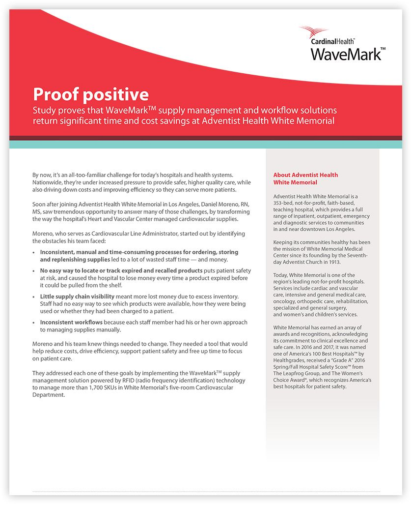 "front cover of case study entitled ""Proof positive""."