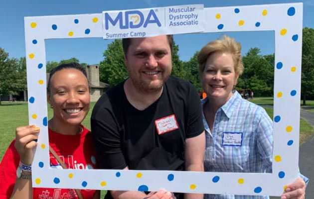 DAN employees at the MDA summer camp.