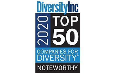 DiversityInc 2020 Top 50 Companies for Diversity logo.