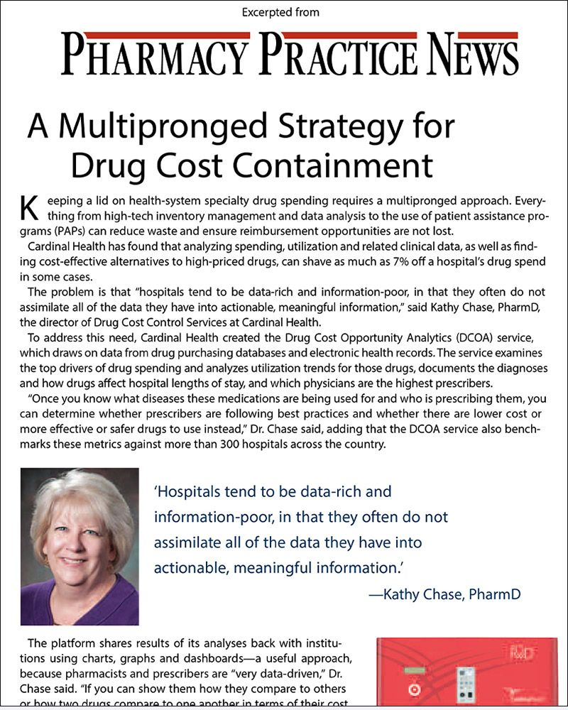 Multipronged Strategy for Drug Cost Containment