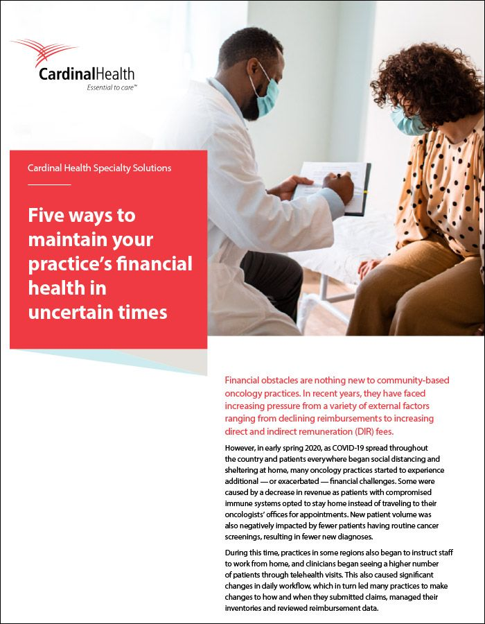 Financial health cover page.