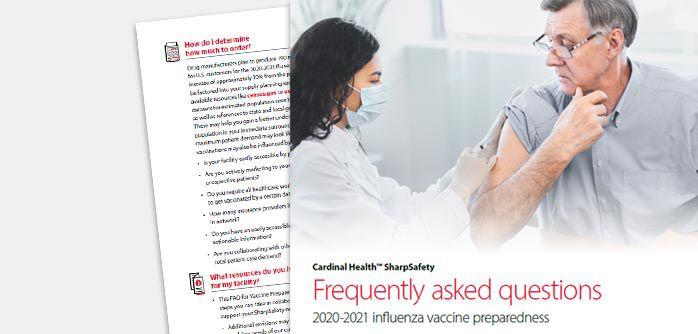 SharpSafety vaccine preparedness FAQ screen capture.