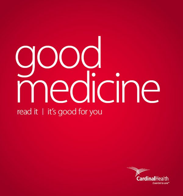 text reading good medicine, retail independent pharmacy 2016