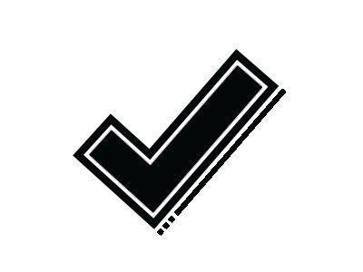 Black check mark icon.