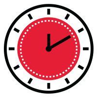 Icon illustration of a clock.