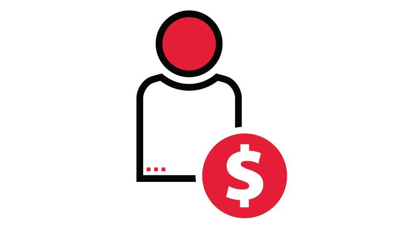 staff savings icon.