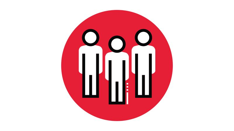 Icon illustration of people.