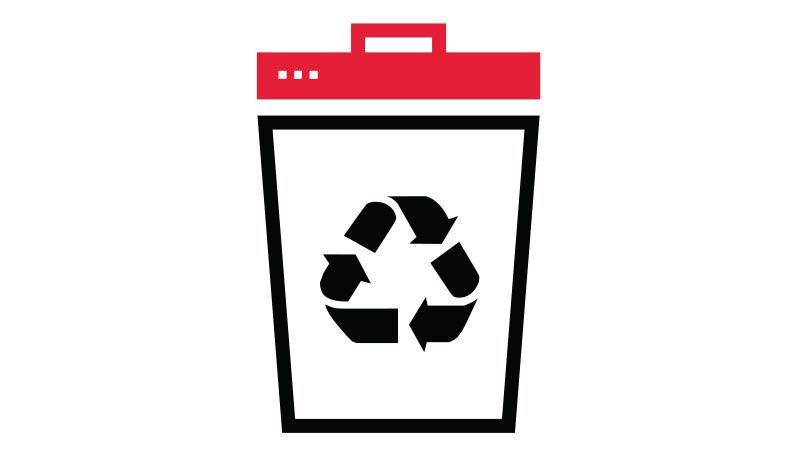 recycling can icon.