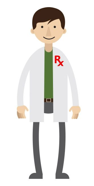 GenerationRx illustration of a pharmacist.