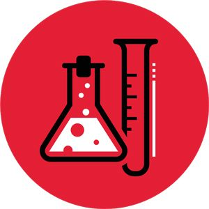 Icon of lab products.