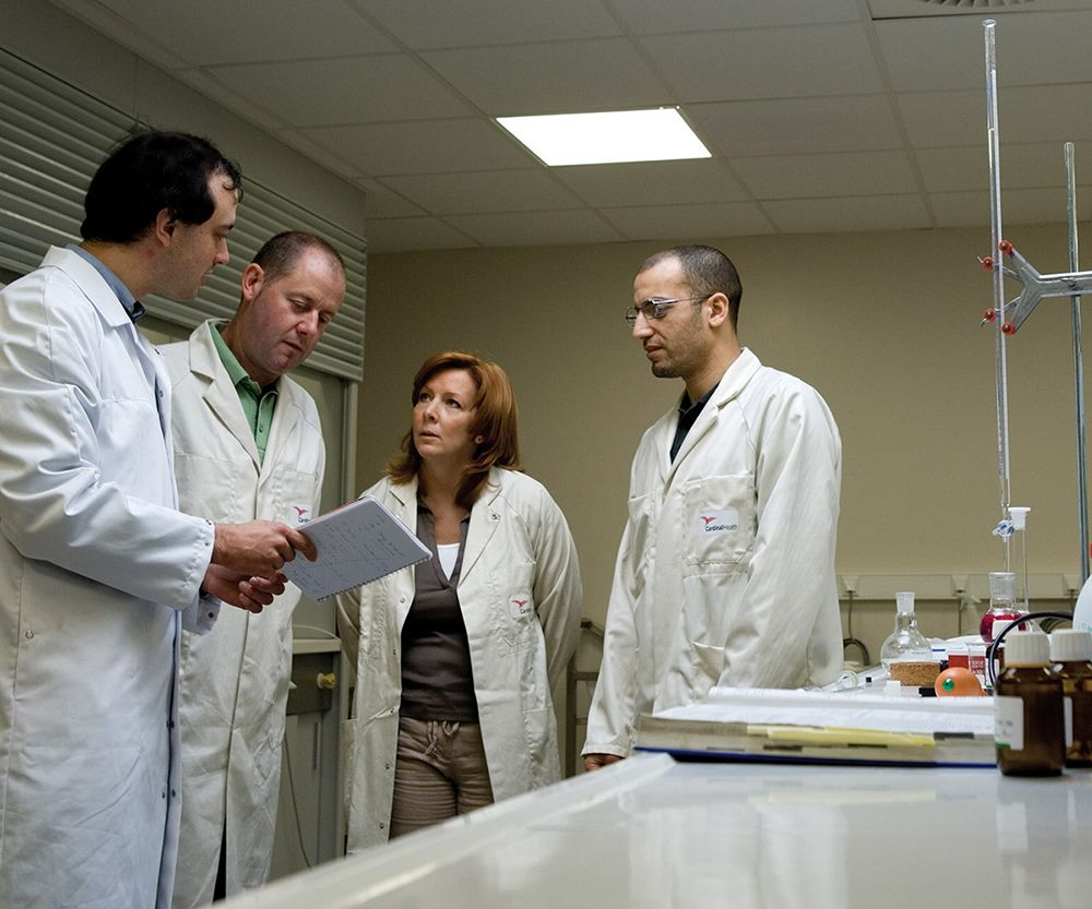 lab technicians in a group.
